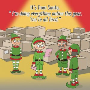 XMAS20  Youre All Fired Funny Xmas Card